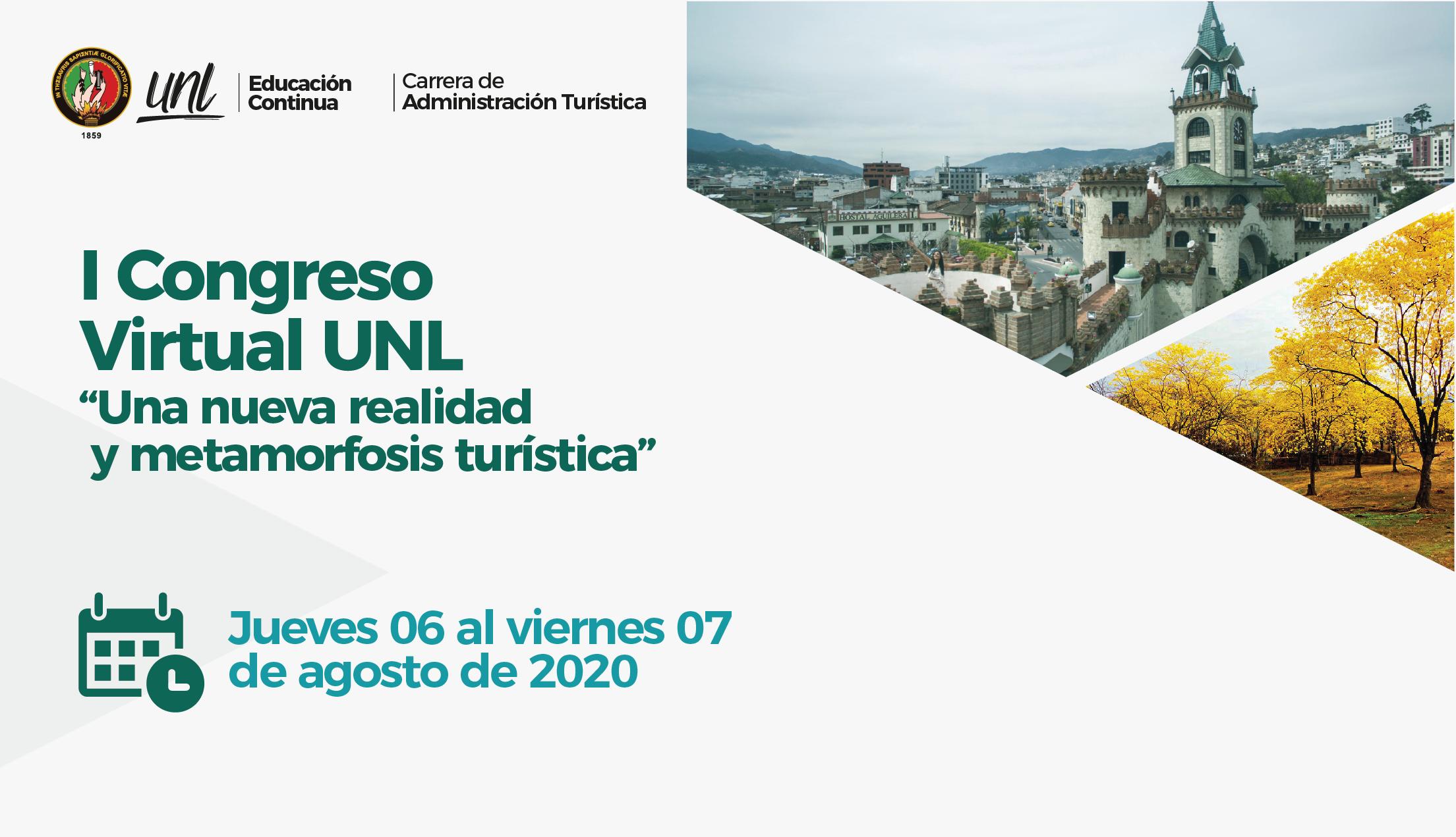 """I Congreso Turístico Virtual """"Una nueva realidad y metamorfosis turística"""""""